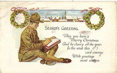 Early 1900s US Army Christmas Card, WhyBidMore Collectibles